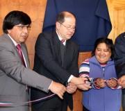 """Inauguran la Escuela """"Cordillera Nevada"""" de Chaqueihua y se da la bienvenida al año escolar 2013"""