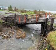Puente Pichicolo sufre daños por frente de mal tiempo