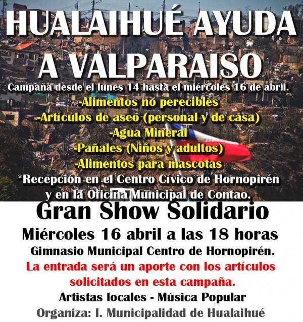 HUALAIHUE AYUDA A VALPARAISO SHOW