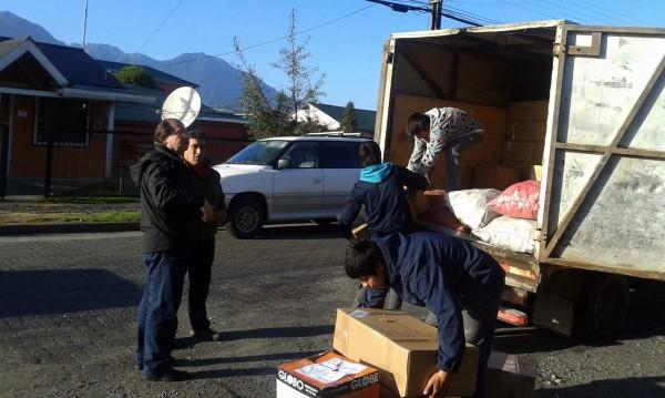 cargando camion