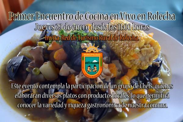 Afiche Cocina en Vivo Rolecha