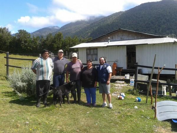 Sector de Telele con la familia Hernández Caicheo.