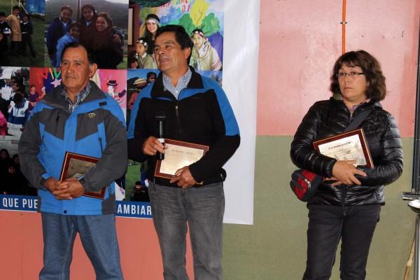 Algunos de los fundadores reconocidos en la ceremonia.