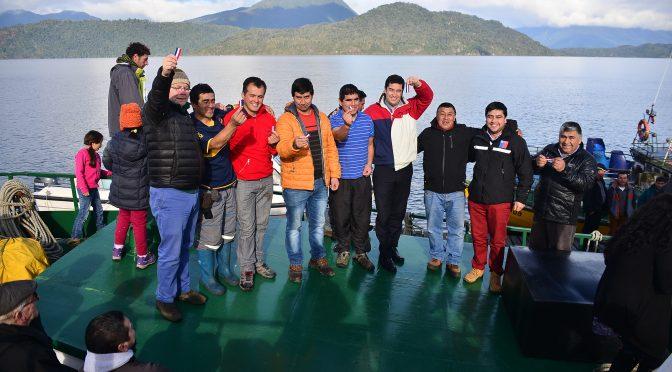 Inauguración Oficial Transporte Marítimo en Isla Llanchid.